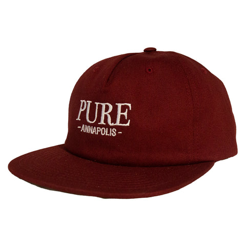 PURE Bodoni Leather Strapback Hat