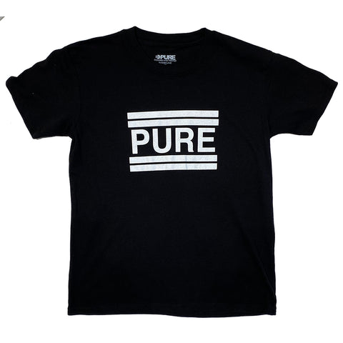 PURE Classic Youth T Shirt Black Pure board shop annapolis maryland