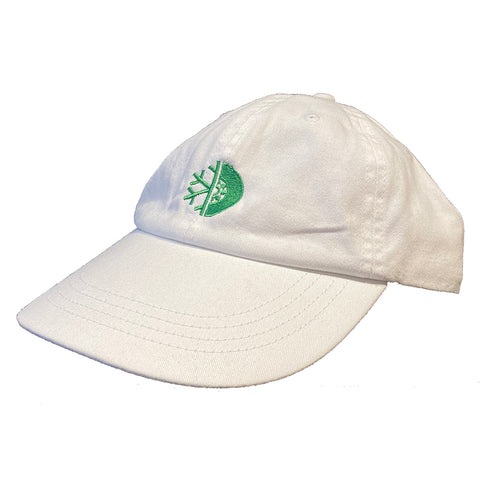 PURE FW Dad Hat White Green Pure Board Shop Annapolis Maryland