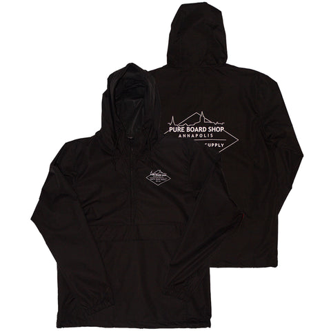 PURE Skyline Anorak Jacket Black Pure Board Shop Pure Board Shop