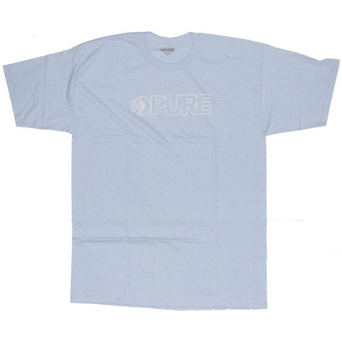 PURE FW Block Outline T Shirt Powder Blue Pure summer 2018 pure board shop