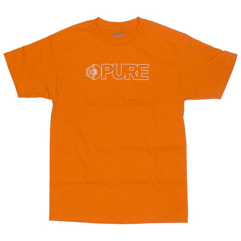 PURE FW Block Outline T Shirt Orange Pure summer 2018 pure board shop