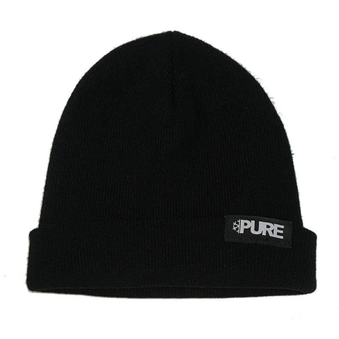 PURE Flake Block Snowboard Beanie Black