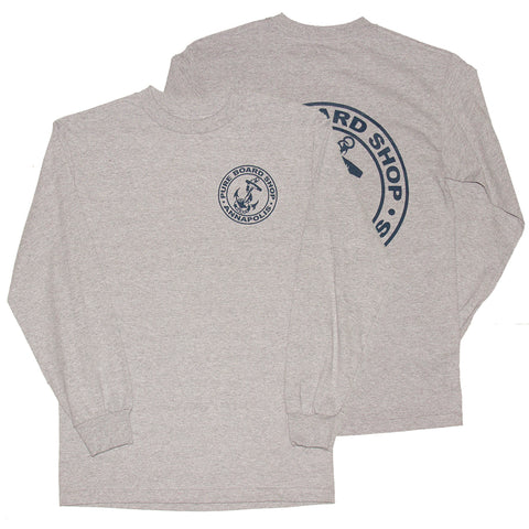 PURE OG Anchor Long Sleeve T Shirt Heather Grey both Pure Fall 2018