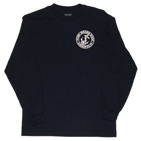PURE OG Anchor Long Sleeve T Shirt Navy both Pure Fall 2018