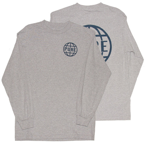 PURE OG Anchor Long Sleeve T Shirt Heather Grey Pure Fall 2018