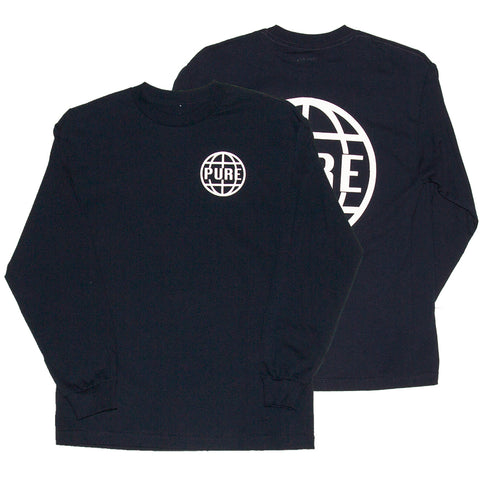 PURE OG Anchor Long Sleeve T Shirt Navy Pure Fall 2018
