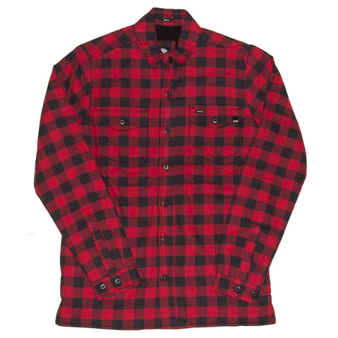 PURE X Dickies 67 Flannel Shirt Jacket Rinsed Red Black Buffalo Plaid Pure Board Shop Fall 2018