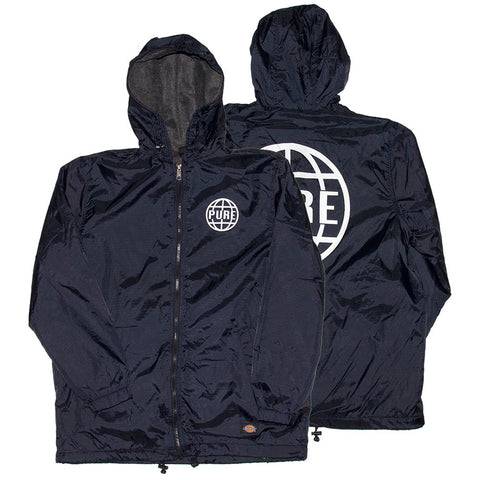 PURE X Dickies Worldwide 2 Fleece Linded Jacket Navy pure board shop fall 2018