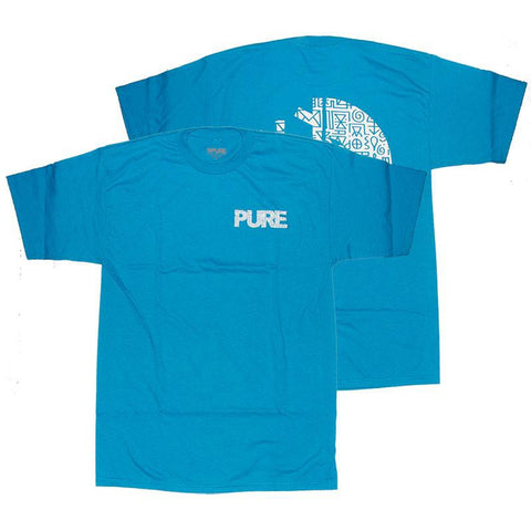 PURE X Vinnie II T Shirt Turquoise PURE Summer 2018 pure board shop vinnie hager