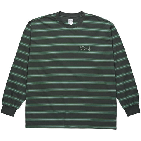 Polar Skate Co 91 Long Sleeve Knit T Shirt Grey Green Polar Skate Co Fall 2018 pure board shop