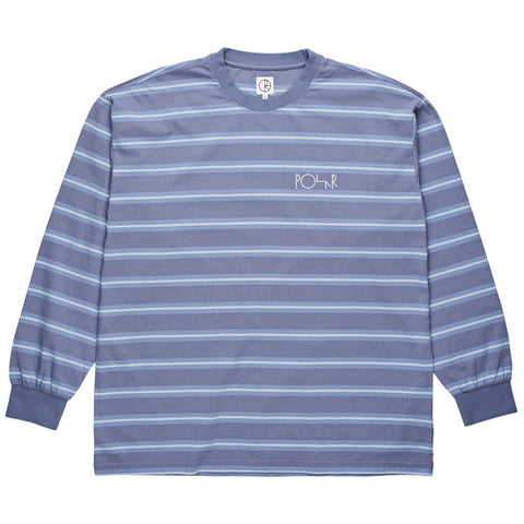 Polar Skate Co 91 Long Sleeve Knit T Shirt Sky Blue Polar Skate Co Fall 2018 pure board shop