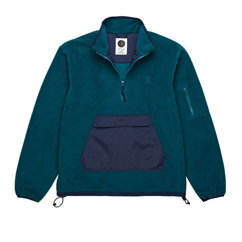 Polar Skate Co Gonzalez Fleece Jacket Green/Navy pure board shop