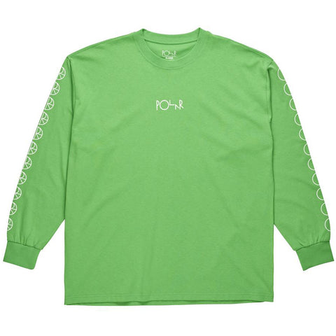 Polar Skate Co Racing Long Sleeve T Shirt Green Polar Skate Co Fall 2018 pure board shop