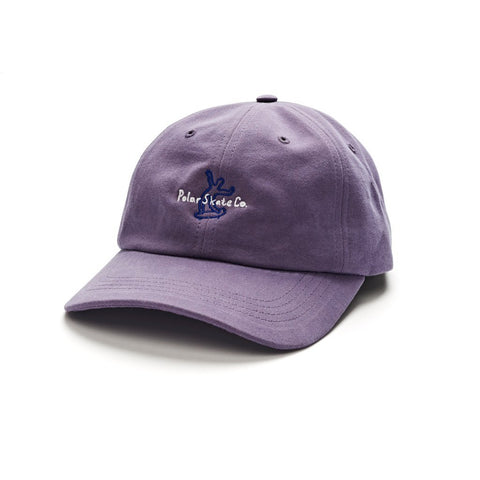 Polar Skate Co Wavy Skater 6 Panel Hat Lilac pure board shop
