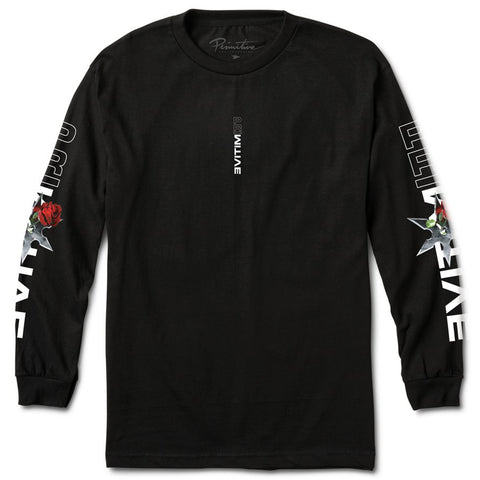 Primitive Threat Long Sleeve T-Shirt Black PAFPA2009_BLK pure board shop