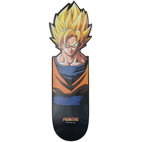Primitive X Dragon Ball Z 2 Super Saiyan Goku CNC Cruiser Skateboard Deck