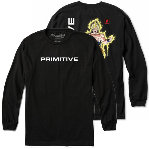 Primitive X Dragon Ball Z Goku Power Up Long Sleeve T-Shirt