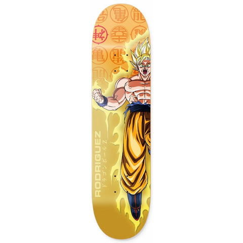 Primitive X Dragon Ball Z Rodriguez Goku Power Up Skateboard Deck 8.25