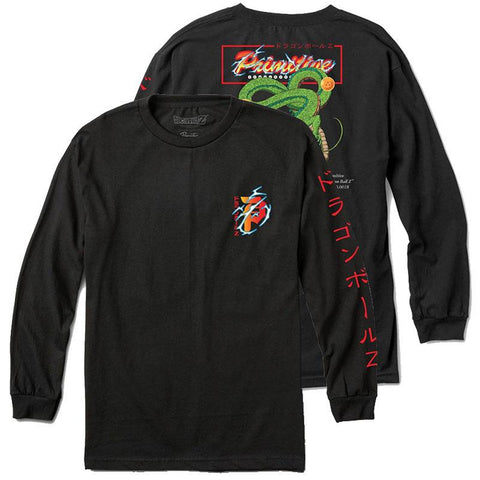 Primitive X Dragon Ball Z Shenron Club Long Sleeve T Shirt Black both Primitive Spring 2018 Pure Board Shop