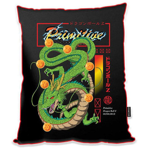 Primitive X Dragon Ball Z Shenron Satin Throw Pillow