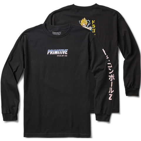 Primitive X Dragon Ball Z Super Saiyain Goku Long Sleeve T-Shirt Black PAPHO1835 pure board shop pure board shop