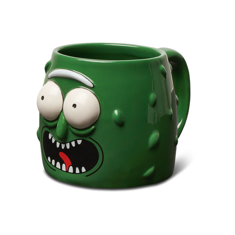 Primitive X Rick and Morty Pickle Rick Molded Coffee Mug