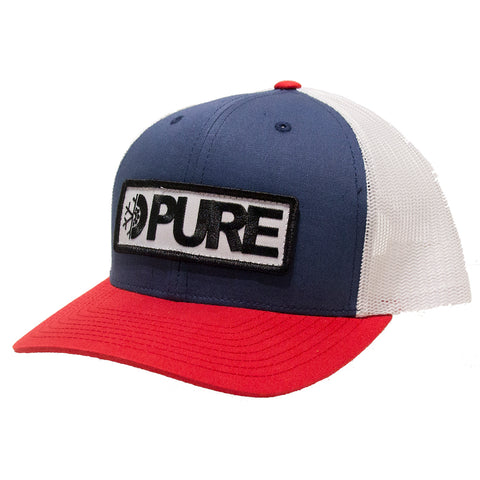 Pure Bar Trucker Hat Navy White Red Pure Spring 2019 pure board shop
