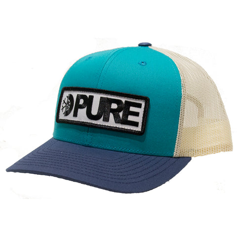 Pure Bar Trucker Hat Teal Birch Navy Pure Spring 2019 pure board shop