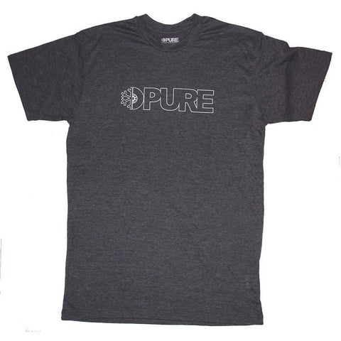 Pure Block Outline Blended T-Shirt Navy Heather pure board shop