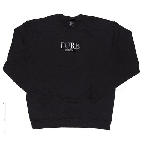 Pure Bodoni Crewneck Sweatshirt Black pure board shop