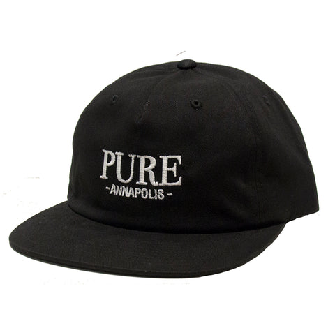 PURE Bodoni Floppy Leather Strapback Hat