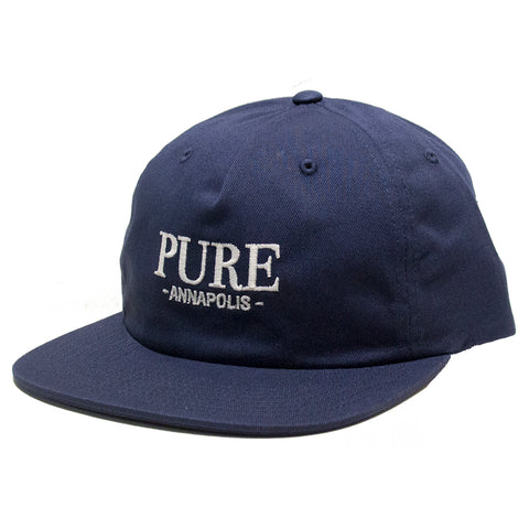 PURE PURE Bodoni Floppy Leather Strapback Hat Pure Board Shop