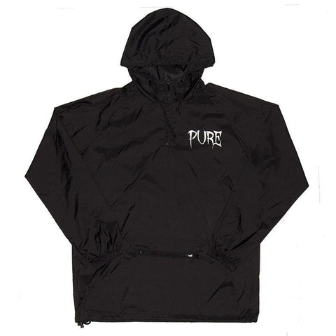 Pure Crow Anorak Jacket Black pure board shop