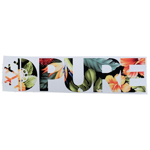 PURE FW Block Floral Die Cut Sticker