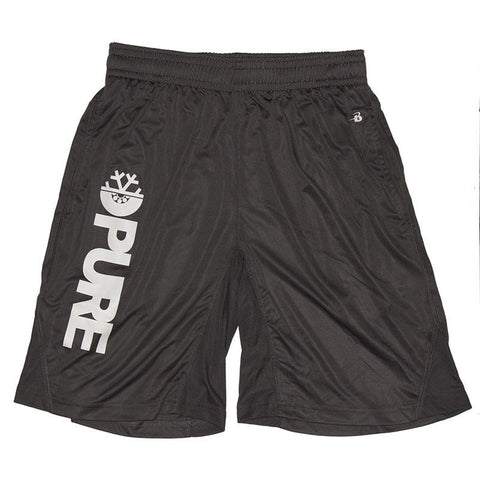 Pure FW Block Gym Shorts Graphite pure board shop