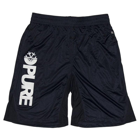 Pure FW Block Gym Shorts Navy pure board shop