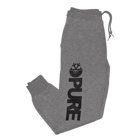 Pure FW Block Jogger Sweatpants Heather Grey pure board shop