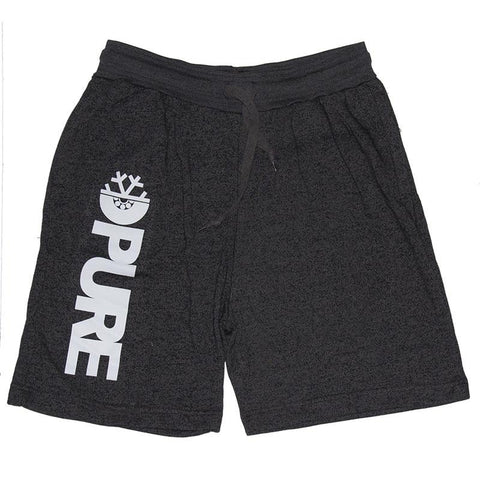 Pure FW Block Sweat Shorts Charcoal Heather pure board shop