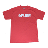 Pure FW Block T-Shirt Coral pure board shop