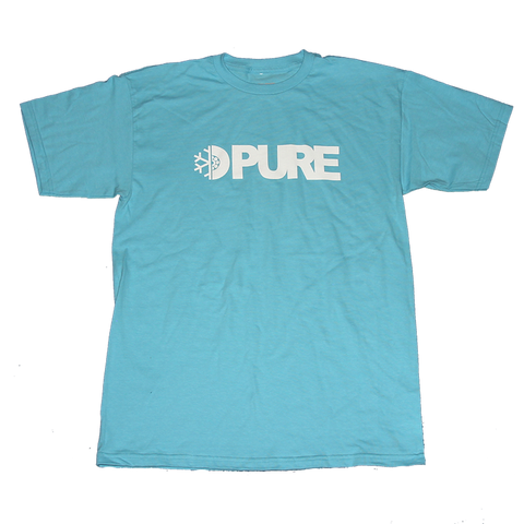 Pure FW Block T-Shirt Pacific Blue pure board shop