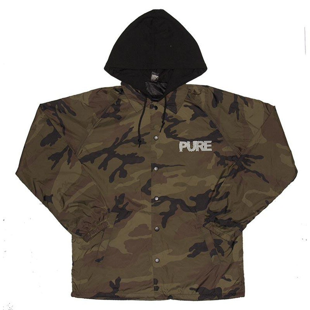 Pure FW Spiral Hooded Coaches Jacket