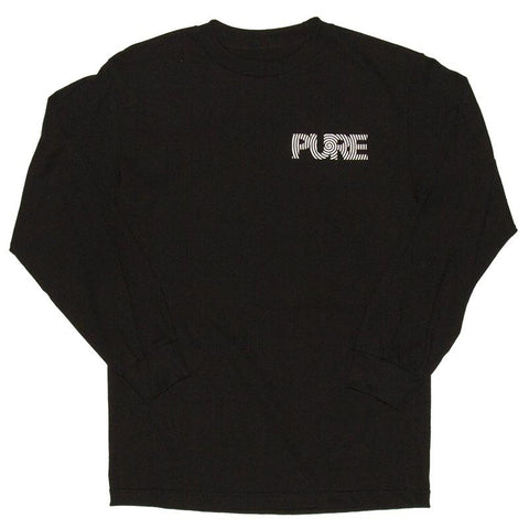 Pure FW Spiral Long Sleeve T-Shirt Black pure board shop