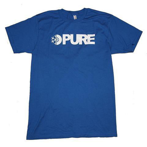 Pure Flake Wheel Block Youth T-Shirt Blue pure board shop