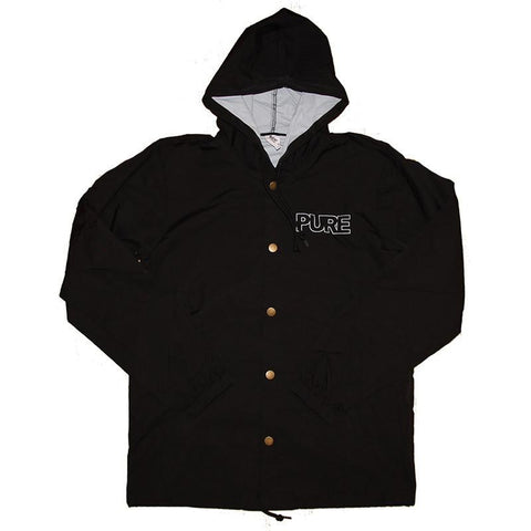 Pure Outline Logo Hooded Jacket Black