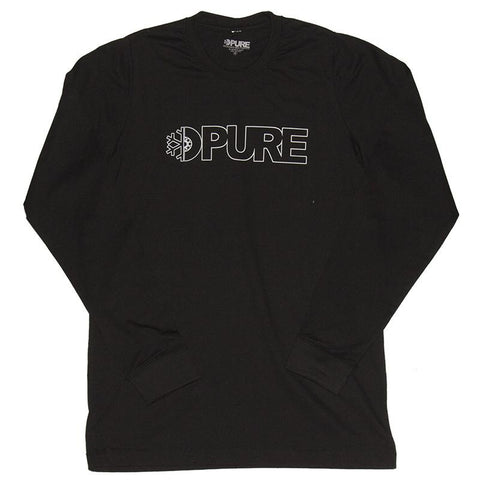 Pure Outline Premium Long Sleeve T-Shirt Black pure board shop