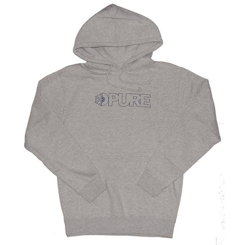 Pure Outline Pullover Hoodie Heather Grey pure board shop