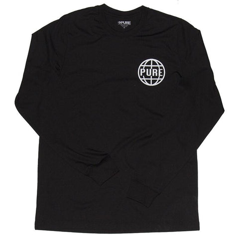 PURE Worldwide 2 Premium Long Sleeve T-Shirt Black pure board shop