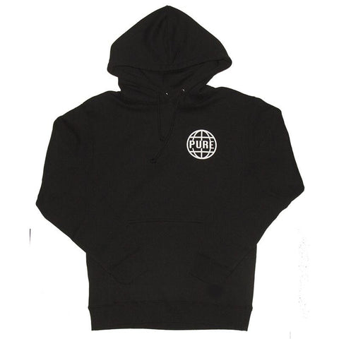 PURE Worldwide 2 Pullover Hoodie Black pure board shop