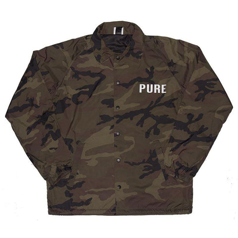 Pure Worldwide Coaches Jacket Woodland Camo pure board shop